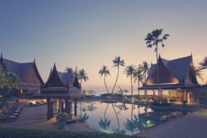 Pool and beach view at Chivasom Thailand