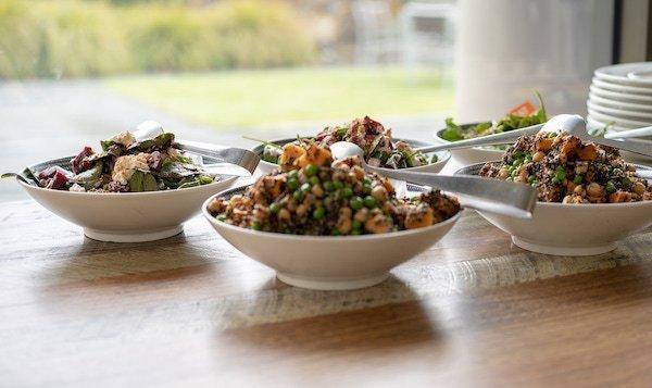 Healthy food at glamping yoga retreat Victoria